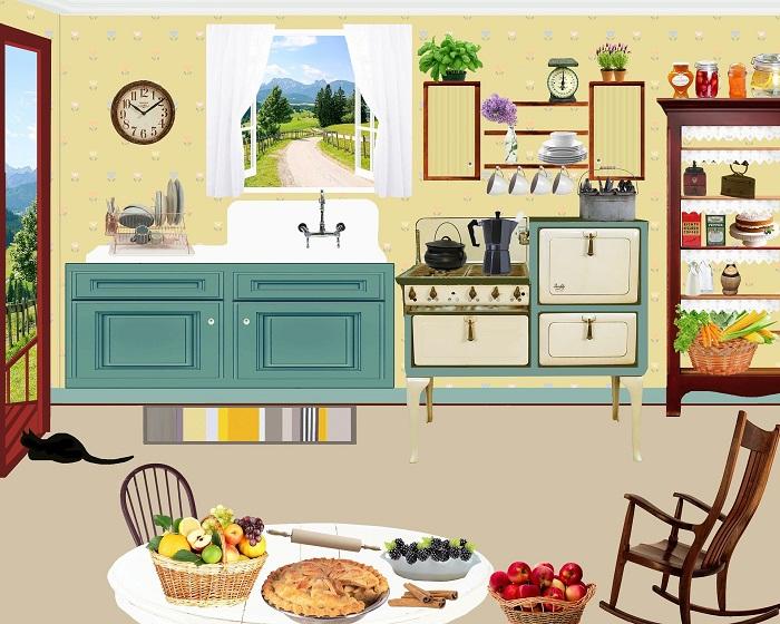 Zariadenie vintage kuchyne